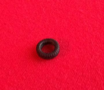 11mm Black Treaded with slot for small Politoys Tyre (Each)